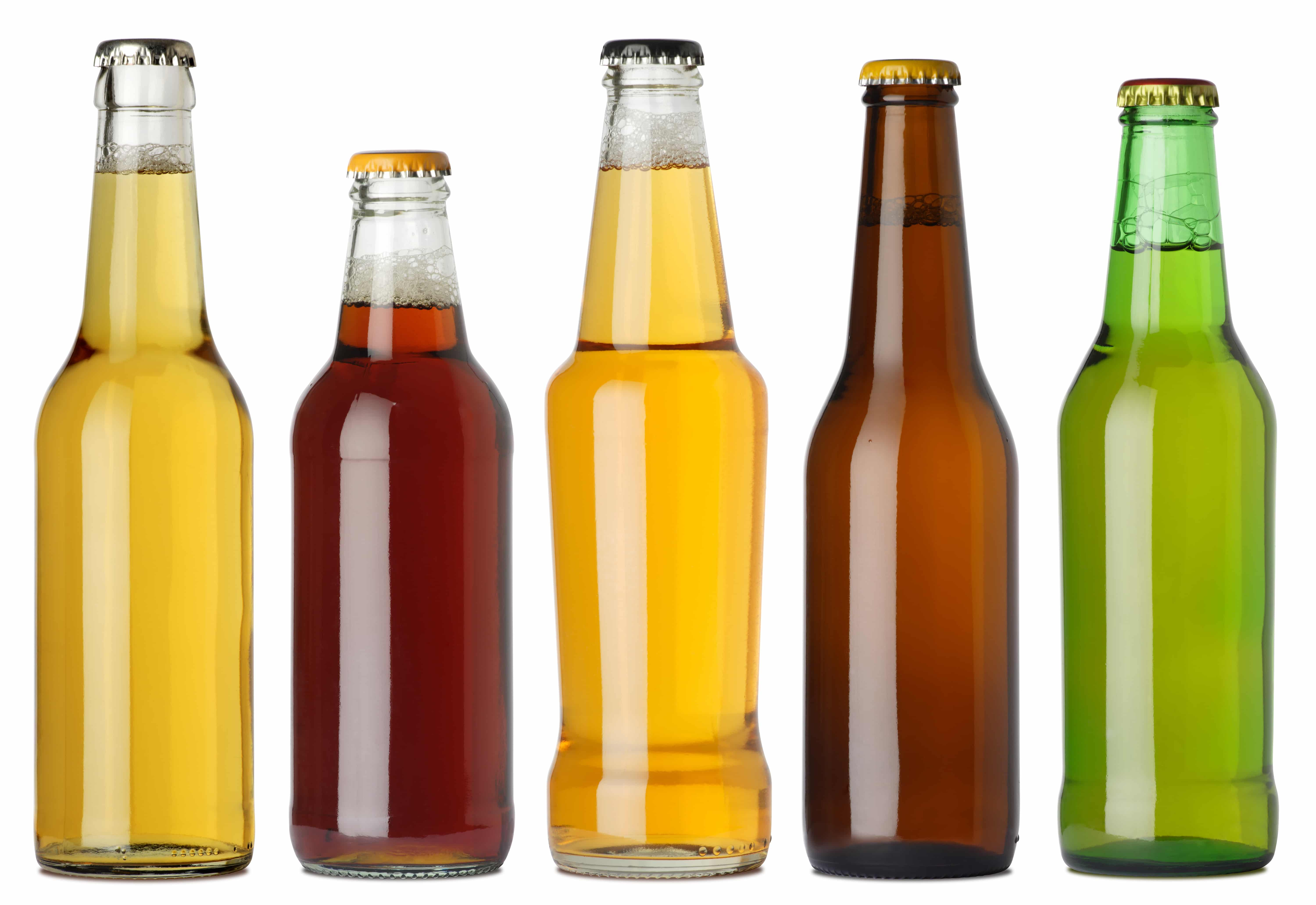 beer bottles without labels
